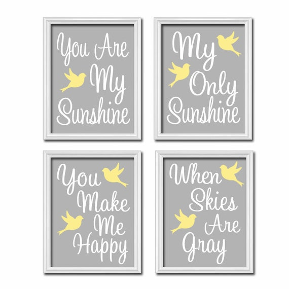 My Sunshine Baby Wall Art Are My Sunshine Wall Art