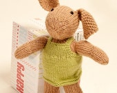 Little Hand Knit Bunny With Dress Jumper