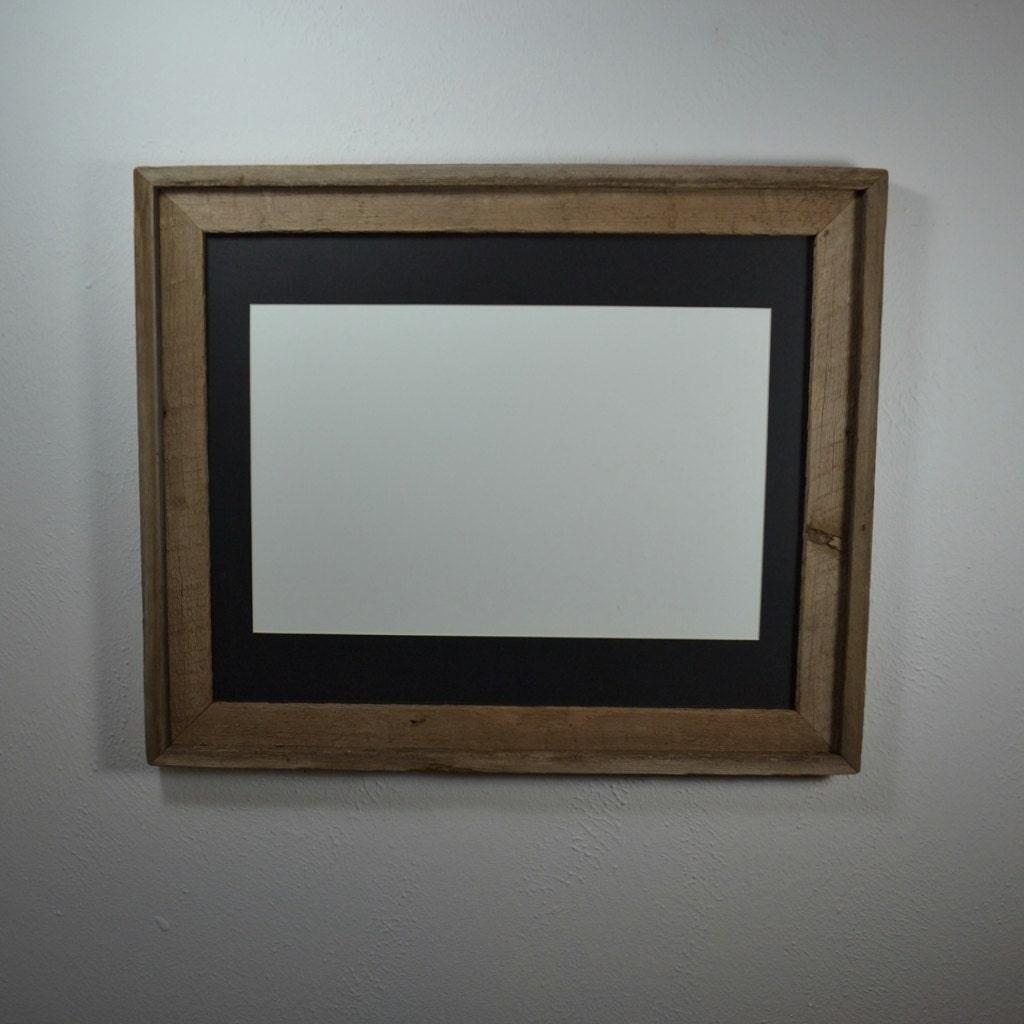 16x20 Wood Frame With Beautiful Natural Patina 11x17 Mat