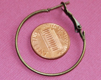 10 pcs of Antiqued brass Earrings Hook 35mm