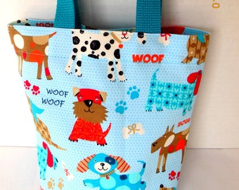 Dogs Purse/Gift Bag/Tote/Easter Basket
