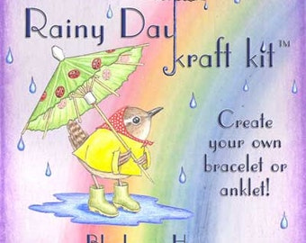 Rainy Day Kraft Kit, hemp jewelry kit, stocking stuffer