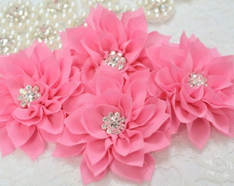 New! 2pcs Handmade Chiffon flowers--carnation (FB1039)