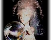 Bubble blowing Fairy Faerie Sculpture