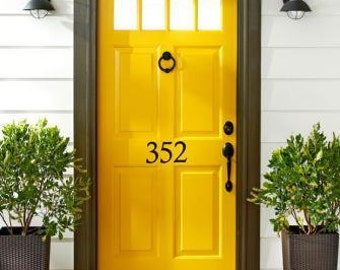 Good House Number Decal U2022 Street Number On Your House Front Door Adds Curb  Appeal   House