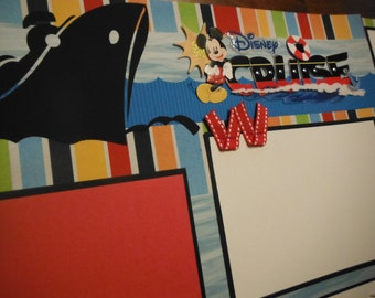 Disney Cruise Mickey Mouse  Premade 12x12 Scrapbook Pages for Family Vacation