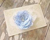 Blue Seersucker Cut Petal Flower Boutonnière