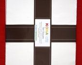 """SALE Snow Kona Cotton 10"""" Squares Layer Cake 42 Squares TEN-121-42"""