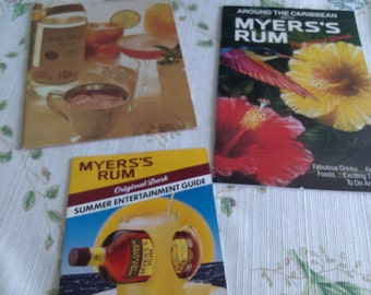 Myer's Rum and Bacardi Rum Receipe Pamphlets