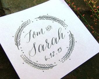 Rubber stamp, wedding stamp