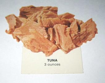 Vintage 1970s Food or Nutrition Die Cut Cardboard School Decoration of Tuna