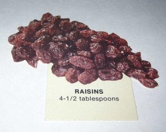 Vintage 1970s Food or Nutrition Die Cut Cardboard School Decoration of Raisins