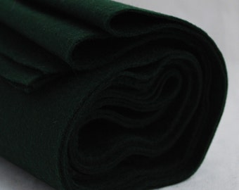 100% Pure Wool Felt Fabric - 1mm Thick - Made in Western Europe - Dark Hunter Green