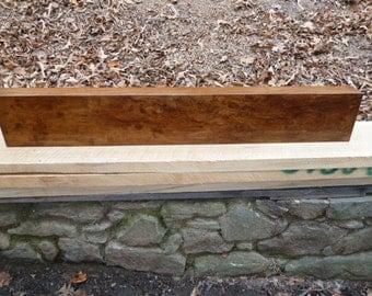 Rustic Quartersawn Spalted Sycamore Mantel Shelf