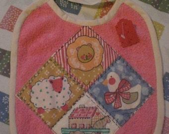 Baby Bib Terry Cloth Noahs Ark Animals