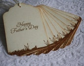 Happy Father's Day Gift Tags - Stamped Handmade