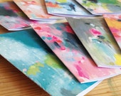 art greeting cards . pack of 8 . blank
