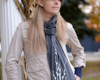 Twigs Scarf in Gray