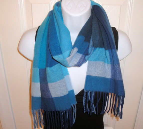vintage scarf v fraas cashmink plaid in shades of by