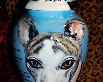 Ceramic burial PET URN Custom large dog urn any breed personalized for Sherri