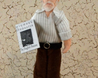 Michael Ondaatje The English Patient Author Doll Art Miniature