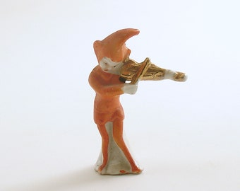 Vintage Pixie Elf Figurine Violin