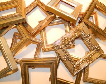 """Set of 15 - Picture Frames - 3 x 3"""" - SILVER or GOLD"""