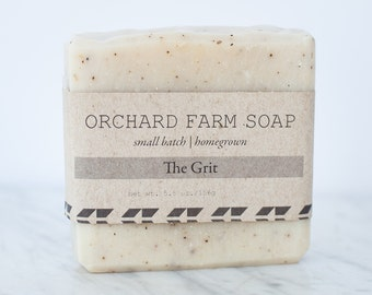The Grit Bar//Unscented Gritty Soap//Natural Scrub Soap