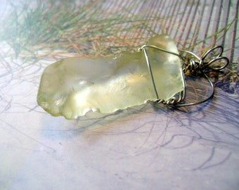 Yellow Sea glass pendant