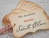 From Santa Claus Christmas Tags Personalized with Name Gift Tags