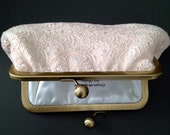 Blush Vintage Cotton Lace Clutch