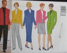 Butterick Classics Misses Jacket Skirt Pants Pattern 4682