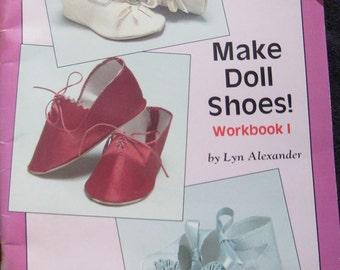 Make Doll Shoes Pattern Book  Lyn Alexander