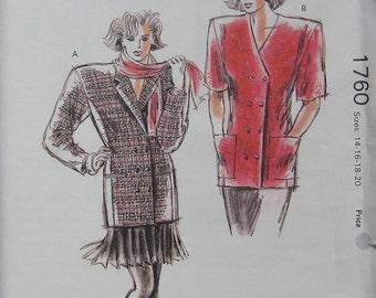 Kwik Sew Misses Jackets Pattern 1760