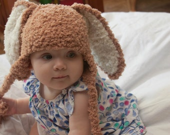 Super Soft Bunny Hat for Newborn-6 Month Olds