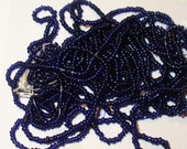Antique 18/0 Glass Micro Seed Beads - Navy Blue