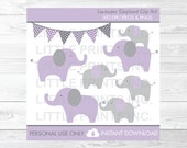 Cute Elephant Clipart / P...