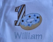 Donut and pajamas shirt-birthday party-can be pancakes-your choice of colors-pants available