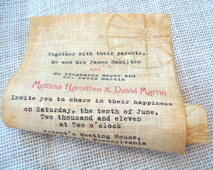 Wedding Invite Message: Message In A Bottle Wedding Invitation Scroll By