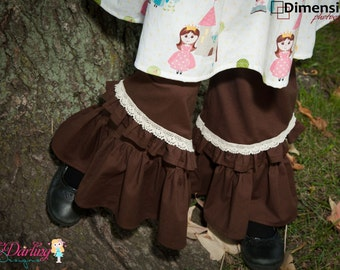 Brown Ruffle Pants - Lily Rufflers