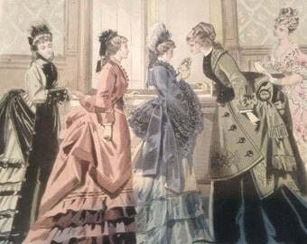 Summer Sale- victorian french fashion print - Peterson's 1875 - The Miniature
