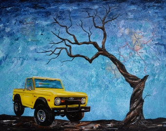 Custom Car Oil Painting, Christmas present, Men, Fathers day gift, For Man