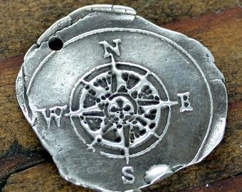 Compass Charm Sterling Silver