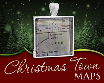 Christmas Valley, Oregon | Christmas Town Map Pendant