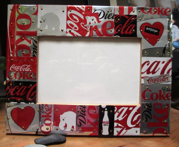 Coca Cola Diet Coke Handcrafted Tile Mosaic Picture Frame W