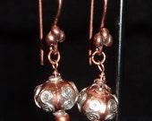 Rhea -  Copper Earrings for the Goddess in You
