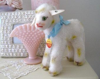 Vintage Steiff Mohair Lamby Lamb Stuffed Toy