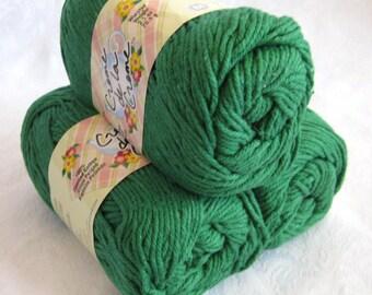 Creme de la Creme  Cotton Yarn,  GREEN SHADOW,  dark green cotton yarn