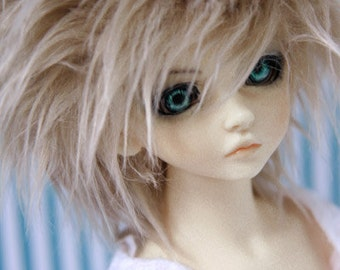 Akasarushi color Pastel Blonde Fur Wig Made for abjd doll size SD MSD tiny yosd and puki