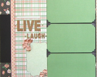 CLEARANCE Pre-made double page scrapbook layout